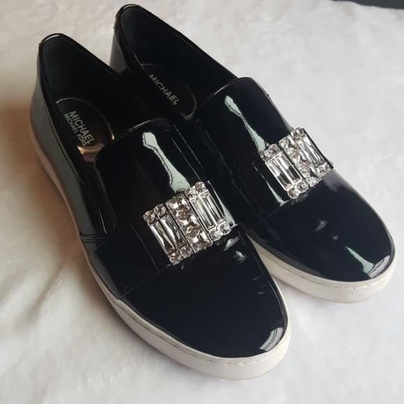 6f36bfa9856 Michael Kors MK Michelle Slip On Patent Loafer. M 5aa4286e46aa7cd1c292d0de